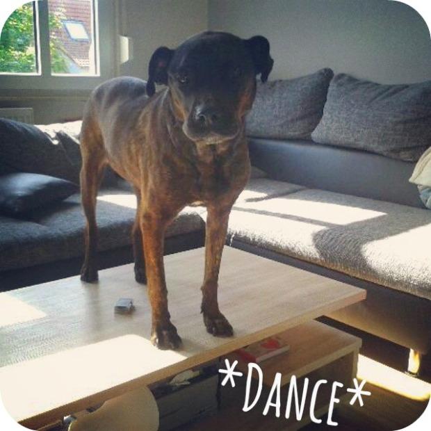 Clara tanzt auf dem Tisch